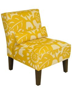 Nick needs an apolstered accent chair for his bedroom. Maybe not yellow.