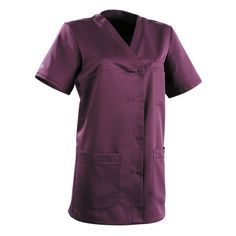 Blouse medicale femme prune Alexandra - Lafont Lafont, Duster Coat, Dresses For Work, Jackets, Polyester, Collection, Products, Fashion, Outfits
