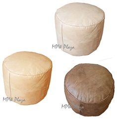 Poufs For Sale Enchanting Unstuffed Moroccan Leather Pouf Fuchsia Mediterraneanfloorpillows Inspiration Design