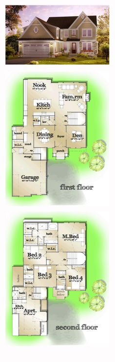 Exclusive COOL House Plan ID: chp-55716 | Total Living Area: 3855 sq. ft., 5 bedrooms and 4.5 bathrooms.