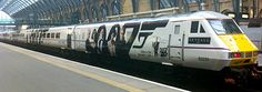 Our latest mission has been wrapping one of the East Coast Mainline trains in a fantastic James Bond livery for Skyfall movie DVD launch Electric Locomotive, Diesel Locomotive, James Bond Skyfall, Uk Rail, Third Rail, Road Train, Electric Train, British Rail, East Coast