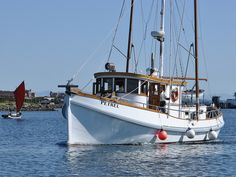 Petrel, ON was built at Astoria in She underwent an expensive conversion from salmon troller to yacht several years ago at Charleston. Trawler Yacht, Trawler Boats, Cool Boats, Small Boats, Ocean Fishing Boats, Shrimp Boat, Bay Boats, Classic Yachts, Wooden Boat Building