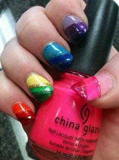 Rainbow Blast by nailtechtish - Nail Art Gallery nailartgallery.nailsmag.com by Nails Magazine www.nailsmag.com #nailart