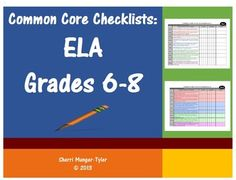 Get organized with these Common Core State Standards Checklists for ELA Grades 6-8! Professional, easy-to-use, color-coded checklists will help you document when each Standard was taught and assessed. Space for notes helps you prepare for meetings and get a jump on lesson modifications and revisions. Also useful for aligning IEP goals, RTI documentation, and comparing the academic advances students need to make from one grade to the next. $12.00
