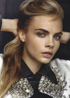 Cara's Makeup Is Light And Playful At The Same Time. Pretty.