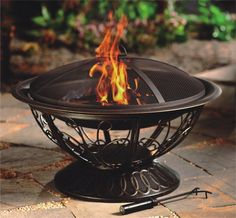 AZ Patio Heaters Wood Burning Fire Pit With Scroll Design   Bring An  Elegant Ambience To Your Next Gathering With The Easily Portable AZ Patio  Heaters Wood ...