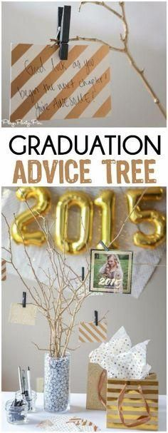 This graduation advice tree takes just minutes to make. Incorporate Tiny Prints graduation invitations and announcements into your graduation party ideas.