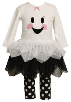 Amazon.com: Bonnie Jean Girls 2-6X Halloween Happy Face Legging Set: Clothing