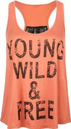 FULL TILT Young Wild & Free Womens Tank | Love yourself