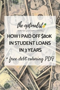 Are you ready to get rid of student loan debt? Today I'm sharing the 9 steps you can take to pay down your debt. #studentloandebt #studentloans #debtpayoff #debtfreecommunity