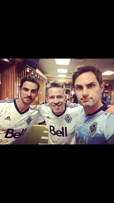 Colin, Sean and Andrew on the WhiteCaps game!!