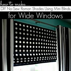 How to Make DIY Roman Shades for WIDE Windows Using Mini Blinds | www.allthingsgd.com