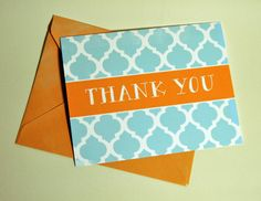 Thank You Card Geometric Tiles by DaisyPrintCompany on Etsy Geometric Tiles, Printing Companies, Thank You Cards, Daisy, Stationery, Create, Unique Jewelry, Handmade Gifts, Design