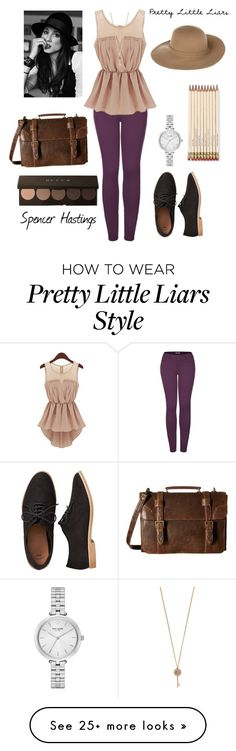"""""""Spencer Hastings - pretty little liars"""" by charactercovers on Polyvore featuring 2LUV, Aéropostale, Kate Spade, Gap, Scully and Armani Jeans"""