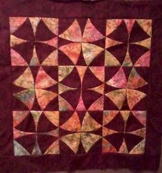 """The GO! Winding Ways die cuts all the shapes you need to create blocks for a quilt like this one made by Betty Santa. """"Always wanted to do this pattern but was glad to find an @AccuQuilt die to save oodles of time."""""""