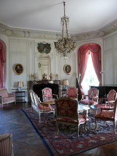 Salon de Musique at the Château de Canisy, via Flickr