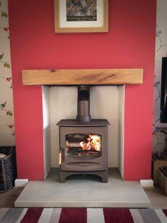 Charnwood C-Five, Yorkshire stone hearth, oak fireplace beam.jpg