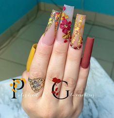 Dope Nail Designs, Fall Nail Designs, Acrylic Nail Designs, Acrylic Nails Coffin Pink, Fall Acrylic Nails, Burgundy Nails, Purple Nails, Local Nail Salons, Aycrlic Nails