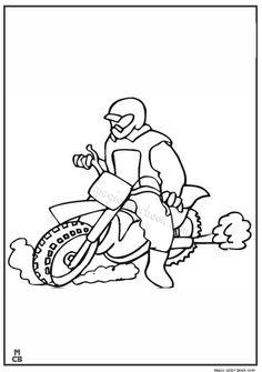 Motorcycle Clubs Police Batman Motorcycles Coloring Motorbikes Biking Motors