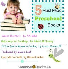 5 Must Read Preschool Books!