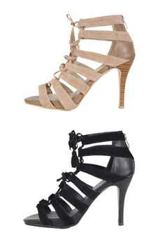 Today's Hot Pick :Suede Lace-Up Heels http://fashionstylep.com/SFSELFAA0021171/insang1en/out These versatile heels will take you from a day of shopping to an afternoon of cocktails! Offering suede straps with tasseled lace-tie and wood-effect heels, these gorgeous pair will make your everyday the best day ever! Wear these with a simple dress and large tote bag. - Suede straps - Tassel lace-tie - Back zipper closure - Available color(s): Black, Beige