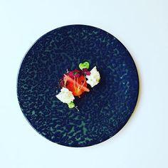 Another summer dessert very nice combination: strawberry coulis, chocolate crumble glazed apricot in vanilla, pink grapefruit, vanilla oil, yogurt sponge cake and oxalis. #instafood #TheArtOfPlating #foodporn #foodstagram #pastry #kitchen #chef #chefstalk