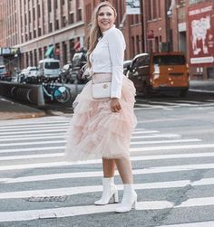 81386e28401 Caitlin Patton rocks tulle and Gucci at New York Fashion Week S/S19. Rent