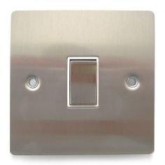 Brushed Chrome Light Switch #interiors