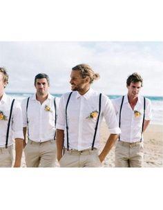Casual Groomsmen Attire Any Color Shirt + Pants + Suspender - Groomsmen - Wedding Vintage Groomsmen Attire, Groomsmen Attire Suspenders, Mens Casual Wedding Attire, Groomsmen Attire Beach Wedding, Casual Groom Attire, Wedding Outfits For Groom, Groom And Groomsmen Attire, Groom Outfit, Casual Blazer