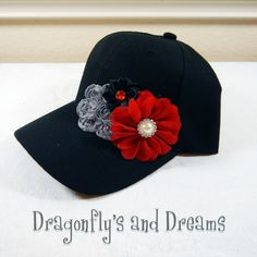 Womens Baseball Hat, Baseball Hat for Women, Womens Hat, Decorated Hat, Rhinestone Hat, Hat for Girls, Decorated Baseball Hat, Flower Hat by DragonflysAndDreams on Etsy