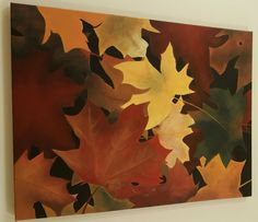 Landscape - Fall Leaves || Acrylic Painting