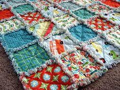 RAG QUILT love these fabrics!