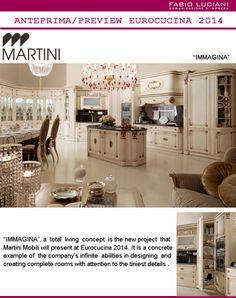 "#MartiniMobili presents Immagina, a ""total living"" kitchen project, at #Eurocucina 2014."