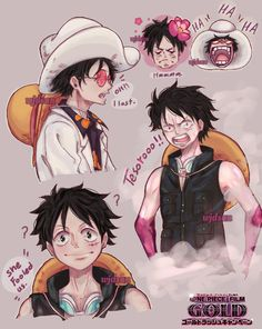 One Piece Comic, One Piece Anime, One Piece Pictures, Cute Pictures, Ace And Luffy, Anime Drawing Styles, One Peace, Monkey D Luffy, One Piece Luffy
