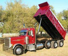 Peterbilt Dump truck Peterbilt Dump Trucks, Peterbilt 379, Tow Truck, Heavy Construction Equipment, Heavy Equipment, Semi Trucks, Old Trucks, Logging Equipment, Custom Trucks