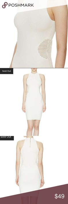 SzM Off white fitted/bodycon dress Very soft thick material, side cut outs, and can hide under garments well, not lined, worn once. It hugs the body with great support without totally feeling super tight. Great condition, worn once. Firth Dresses