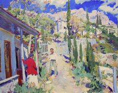 The Athenaeum - Alupka, Crimea (Sergei Arsenevich Vinogradov - )