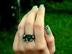 Ring - Orsay Sapphire, Turquoise, Photo And Video, Rings, Accessories, Jewelry, Jewlery, Jewerly, Green Turquoise