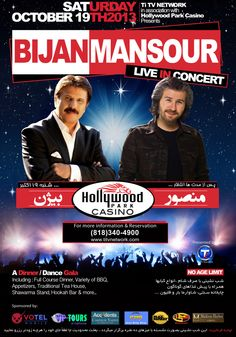 MANSOUR Live in Concert - Saturday Oct. 19th, 2013 @ Hollywood Park Casino in Los Angeles, CA