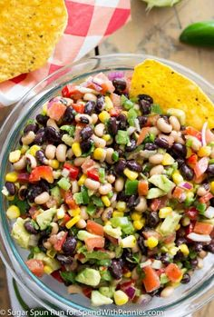 Cowboy caviar is a great and easy to make dip any time of the year! Grab your tortilla chips and mix this up for your guests or for your next potluck!