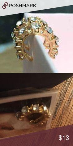 Special 2 Earring rhinestone cuffs Fashion Gold tone Rhinestone Clip Earring Non Piercing cuff Accessories