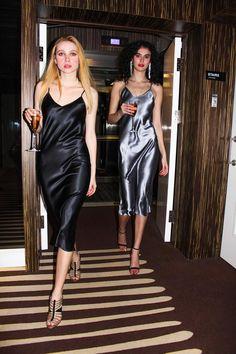 Ladies in Serenity silk slip dresses Silk Cami Dress, Black Silk Dress, Black Midi, Valentines Day Dresses, Valentines Games, Dress Plus Size, Evening Attire, Evening Dresses, Satin Lingerie
