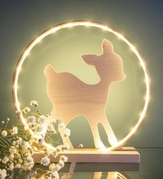 Lampe faon 25 cm Led, Snow Globes, Table Lamp, Home Decor, Baby Deer, Greater Flamingo, Lamp Table, Interior Design, Home Interior Design