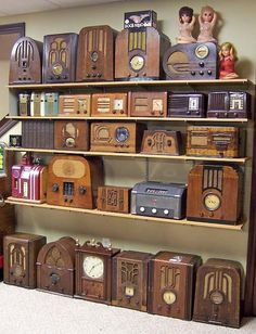 The floor and first two shelves are other Zenith radios. Description from mcclellans.com. I searched for this on bing.com/images