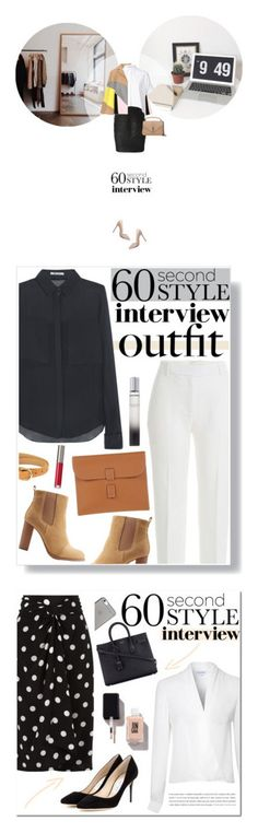"""Winners for 60-Second Style: Job Interview"" by polyvore ❤ liked on Polyvore featuring ASOS, Persona, Alice + Olivia, Versace, Yves Saint Laurent, jobinterview, 60secondstyle, 3.1 Phillip Lim, T By Alexander Wang and Gucci"