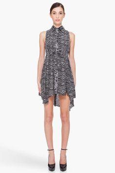 PIERRE BALMAIN Silk Zebra Print Dress. Can I borrow $500?