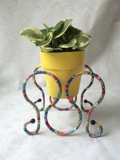 Multi-colored Plant Holder, Decorative Plant Holder, Metal Plant Holder…