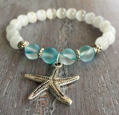 Etsy Handmade Boho Jewelry | Starfish Bracelet Boho Jewelry Gemstone Beaded by indietiez