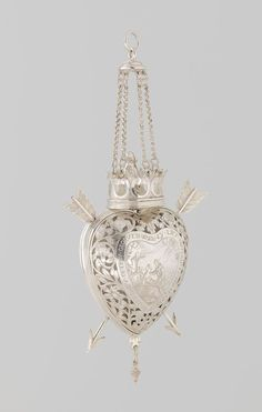 Bride's heart, made in the Netherlands, 1625-74 (source).
