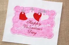 Valentine Love Heart Frame Applique - 4 Sizes! | Font Frames | Machine Embroidery Designs | SWAKembroidery.com Creative Appliques